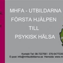 MHFA visitkort